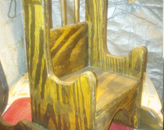 small baby or doll rocking chair