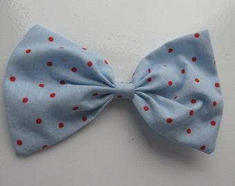 Giant hair bow Polka-dot spotty hair accessory