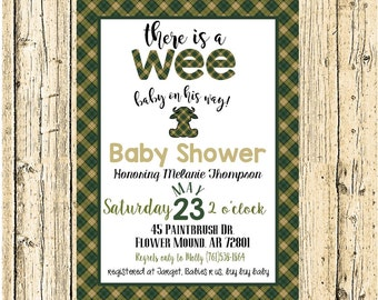 Scottish Baby Invitation