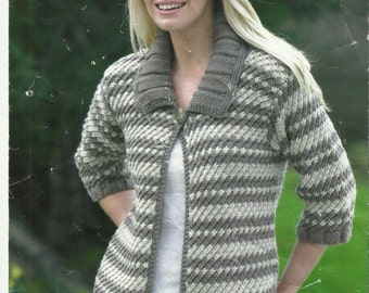 Ladies Sweater and Jacket Knitting Pattern.