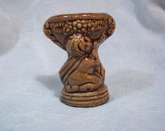 Small Vintage Brown Bud Vase