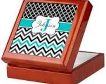 Personalized Rectangular Keepsake Jewelry Box