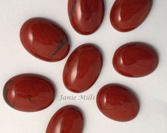 Red Jasper 13 x 18mm oval cabochon