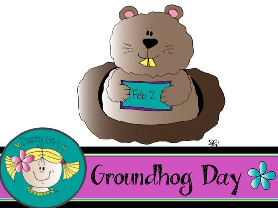 Groundhog Day Clip Art From DazeyGirlClipArt On Etsy Studio