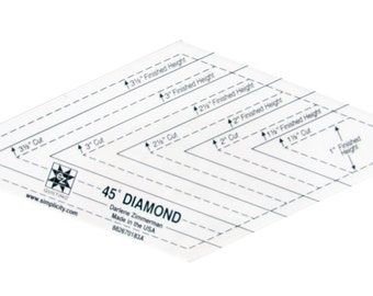 60 degree diamond shape acrylic quilting template from pcjsupplies