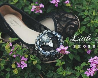 Rhinestone shoe clips, shoe clips, dreamcatcher shoe clips, bridal shoes clips, wedding shoes clips, lace shoe clips, black shoe clips