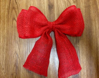 Red or Purple Burlap Bow