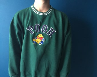 Pooh sweatshirt in green, Medium