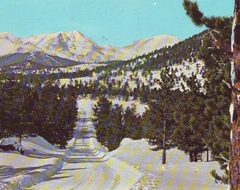 Vintage Rocky Mountain National Park, Mummy Range,  Unused Postcard