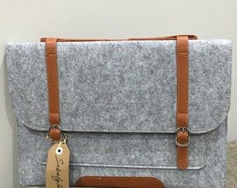 Woollen felt laptop cover case sleeve