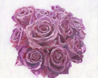 Purple Bouquet - Original Oil Painting