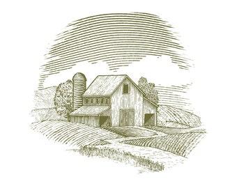 Woodcut Barn