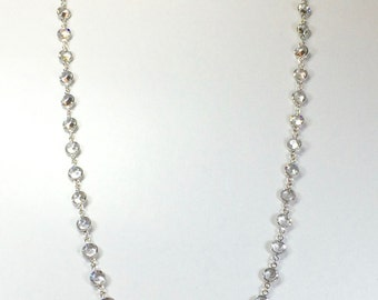 "Raindrops Necklace - Crystal Clear/Rhodium 36"" Swarovski crystal"