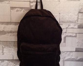 Corduroy Backpack, Basic Backpack, School Bag, Travel Backpack, Brown bag, school backpack, Rucksack Backpack,
