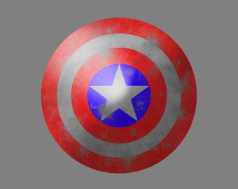 Captain America Shield 11x14