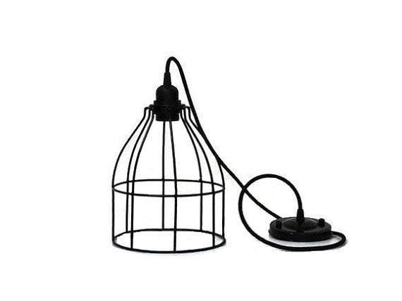 metal lamp cage shade industrial lighting metal cage pendant