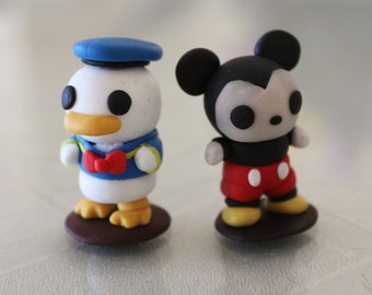 Mickey Mouse and Donald Duck - Polymer Clay