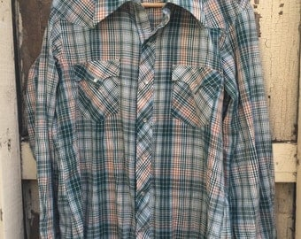 Green Plaid Button Down