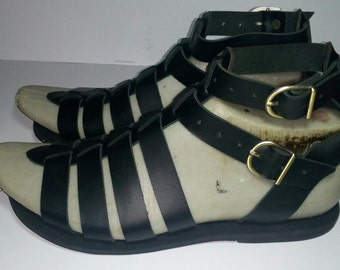 Men leather gladiator sandals