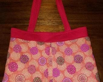 Handsewn - Large Summer Mandala Tote Bag