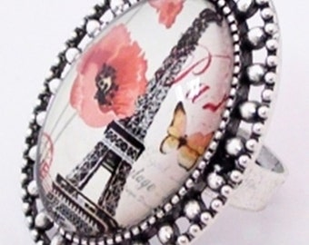 Spring in Paris Poppies Ring