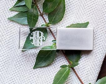 10x Matt Silver Crystal USB Drives - 16gb