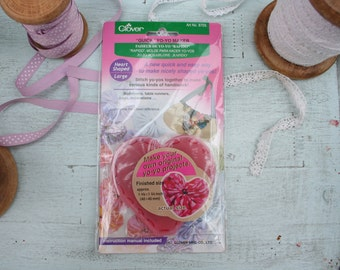 Clover Kanzashi Flower Maker Heart Shaped Large 8705 45mm