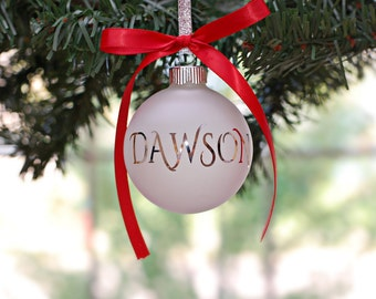 DIY Christmas Ornament Decal, Personalized Name Decal, DIY Christmas Gift, Stocking Stuffer, Family Christmas Ornaments, Christmas Decor