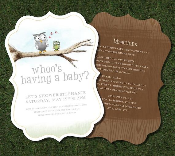 Blank Owl Baby Shower Invitations: Owl Baby Shower Invitation Printable Story Book Inspired