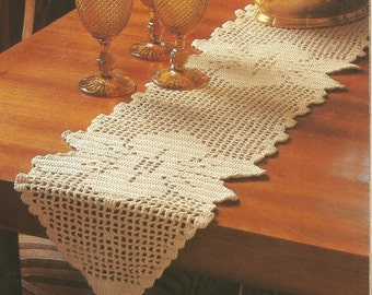 Vintage Crochet Patterns | Crochet Patterns |Table Cloth Crochet Patterns | Filet Crochet Patterns | Set of 3 Crochet Patterns | PDF