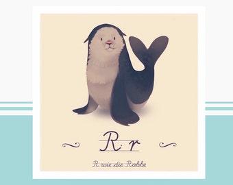 Animal ABC - R like seal