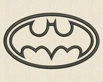 Batman Applique Embroidery Design 3 Sizes