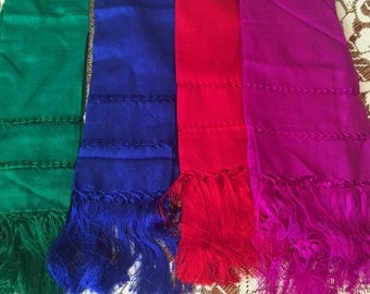 "Gorgeous ""reboso"" shawl, one size only, in various colors"