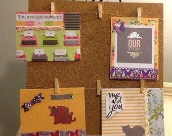 Set of 4 handmade cards