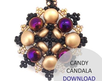 Jewellery Pattern Download / Kleshna Candala Seed Bead & Twin Project Download by Kleshna