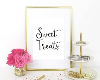 Sweet Treats sign, Candy Buffet sign, Wedding Candy Bar Sign, Dessert Station Sign, Wedding Dessert Table Sign, Wedding Dessert Sign, WCS004