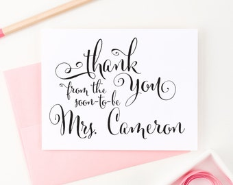Bridal Shower Thank You From the Soon to be Mrs. Bridal Shower, Engagement Gifts for her, Wedding Thank You Cards - (Set of 10) WCP05