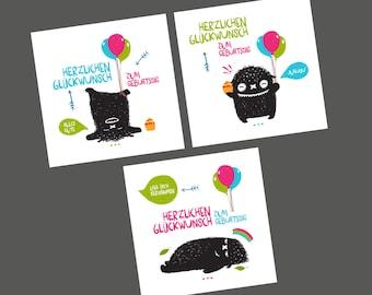 Set / birthday cards