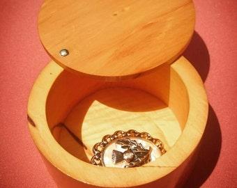 Handmade Australia Wooden Ring Trinket Box