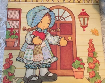Vintage Holly Hobbie Valentine's Card