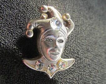 Vintage Venetian crystal diamante rhinestone brooch retro Estate.