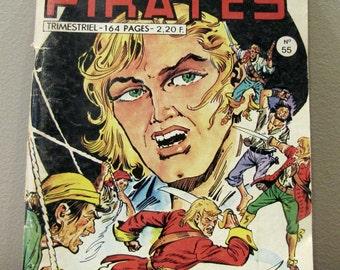 PIRATES 55 Captain Rik Erik - Gwenn (Freya la mystérieuse), MON JOURNAL 1974, comic book, Pirates book