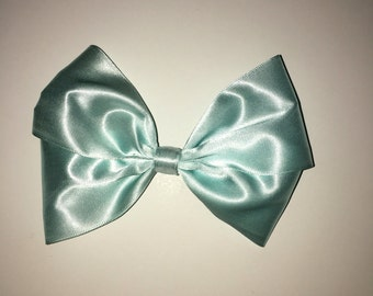Mint Green- Large double bow