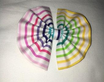 Rainbow Stripe Bow