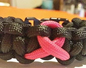 Brest Cancer Paracord Bracelet
