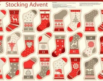 stocking advent calendar fabric advent calendar panel make your own advent calendar christmas stocking bunting christmas