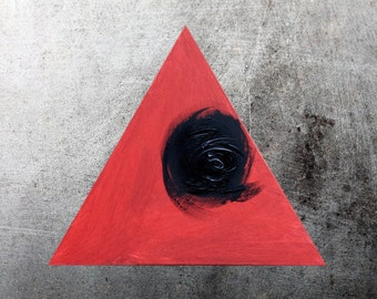 Red black triangle