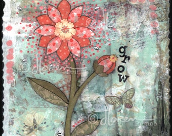Sprout Blossom Grow - fine art print