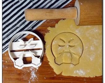 Cookie Cutter Emoticone Emoji Smiley grouch