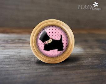 dogwooden domed dresser knobs drawer knobs pulls handles kitchen cabinet knobs handle